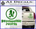 Psychopathic Records Decal Sticker ICP Green Vinyl 120x97