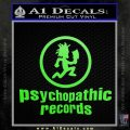Psychopathic Records Decal Sticker ICP Lime Green Vinyl 120x120