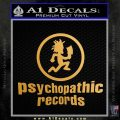 Psychopathic Records Decal Sticker ICP Metallic Gold Vinyl 120x120