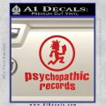Psychopathic Records Decal Sticker ICP Red Vinyl 120x120
