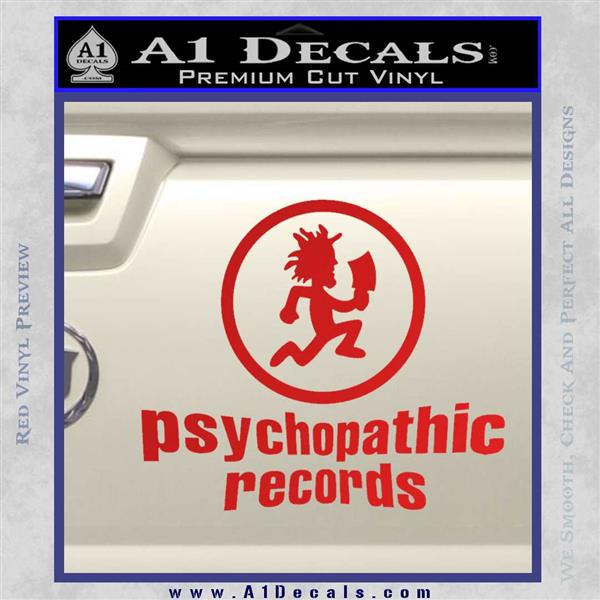 Psychopathic Records Decal Sticker ICP Red Vinyl