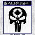 Punish Skull Maple Leaf Decal Sticker Black Logo Emblem 120x120