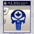 Punish Skull Maple Leaf Decal Sticker Blue Vinyl 120x120