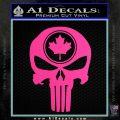 Punish Skull Maple Leaf Decal Sticker Hot Pink Vinyl 120x120