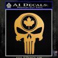 Punish Skull Maple Leaf Decal Sticker Metallic Gold Vinyl Vinyl 120x120