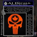 Punish Skull Maple Leaf Decal Sticker Orange Vinyl Emblem 120x120