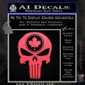 Punish Skull Maple Leaf Decal Sticker Pink Vinyl Emblem 120x120