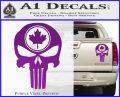 Punish Skull Maple Leaf Decal Sticker Purple Vinyl 120x97