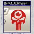 Punish Skull Maple Leaf Decal Sticker Red Vinyl 120x120