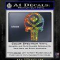 Punish Skull Maple Leaf Decal Sticker Sparkle Glitter Vinyl 120x120