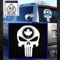 Punish Skull Maple Leaf Decal Sticker White Emblem 120x120