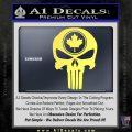 Punish Skull Maple Leaf Decal Sticker Yelllow Vinyl 120x120