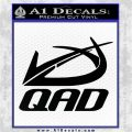 QAD Quality Archery Design Decal Sticker Black Logo Emblem 120x120