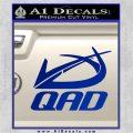 QAD Quality Archery Design Decal Sticker Blue Vinyl 120x120