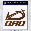 QAD Quality Archery Design Decal Sticker Brown Vinyl 120x120