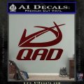 QAD Quality Archery Design Decal Sticker Dark Red Vinyl 120x120