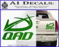 QAD Quality Archery Design Decal Sticker Green Vinyl 120x97