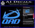 QAD Quality Archery Design Decal Sticker Light Blue Vinyl 120x97
