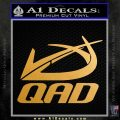 QAD Quality Archery Design Decal Sticker Metallic Gold Vinyl 120x120