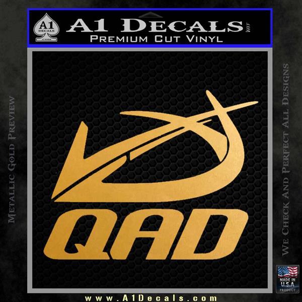 QAD Quality Archery Design Decal Sticker Metallic Gold Vinyl
