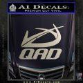 QAD Quality Archery Design Decal Sticker Silver Vinyl 120x120