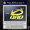 QAD Quality Archery Design Decal Sticker Yelllow Vinyl 120x120