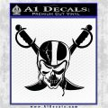 Raiders Nation Decal Sticker Black Logo Emblem 120x120