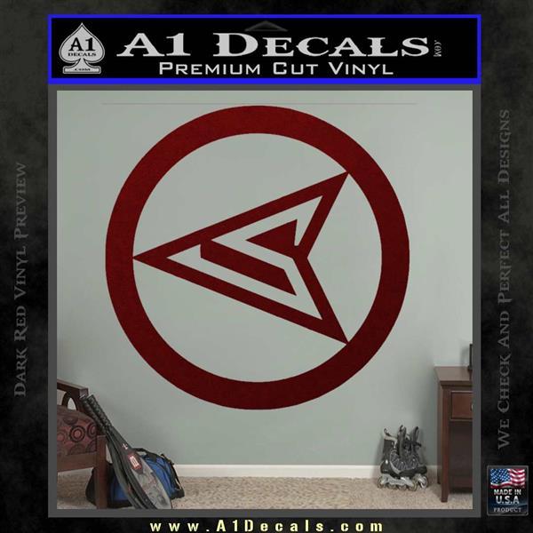 Red Arrow Speedy Roy Harper emblem DLB Decal Sticker Dark Red Vinyl
