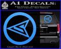Red Arrow Speedy Roy Harper emblem DLB Decal Sticker Light Blue Vinyl 120x97