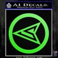 Red Arrow Speedy Roy Harper emblem DLB Decal Sticker Lime Green Vinyl 120x120