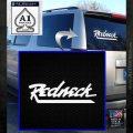 Rednect Decal Sticker Script White Emblem 120x120