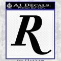 Remmington R Decal Sticker Black Logo Emblem 120x120