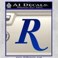 Remmington R Decal Sticker Blue Vinyl 120x120