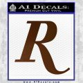 Remmington R Decal Sticker Brown Vinyl 120x120