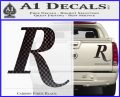 Remmington R Decal Sticker Carbon Fiber Black 120x97