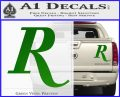 Remmington R Decal Sticker Green Vinyl 120x97