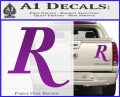 Remmington R Decal Sticker Purple Vinyl 120x97