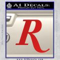 Remmington R Decal Sticker Red Vinyl 120x120