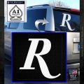 Remmington R Decal Sticker White Emblem 120x120