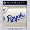 Royals Decal Sticker Script Blue Vinyl 120x120