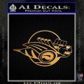 Rumble Bee Logo Decal Sticker DZA Metallic Gold Vinyl 120x120