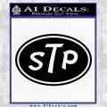 STP Vinyl Decal Sticker D1 Black Logo Emblem 120x120