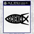 Science Jesus Fish Decal Sticker Black Logo Emblem 120x120