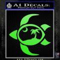 Sea Turtle Palmetto Palm Tree Moon Decal Sticker Lime Green Vinyl 120x120