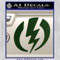 Shazam Logo Decal Sticker Dark Green Vinyl 120x120