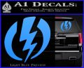Shazam Logo Decal Sticker Light Blue Vinyl 120x97