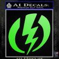 Shazam Logo Decal Sticker Lime Green Vinyl 120x120