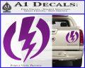 Shazam Logo Decal Sticker Purple Vinyl 120x97