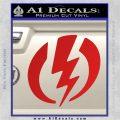 Shazam Logo Decal Sticker Red Vinyl 120x120