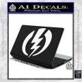 Shazam Logo Decal Sticker White Vinyl Laptop 120x120